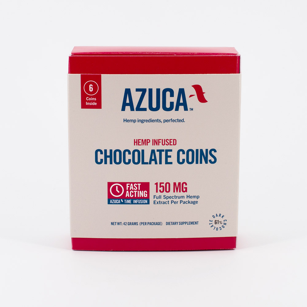 Azuca CBD Chocolate Coins 6 Pack Box